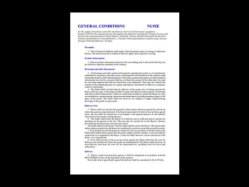 Leveringsbetingelser NL92 engelsk version